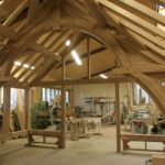 Oak roof trusses