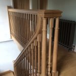 traditional oak banister made to order
